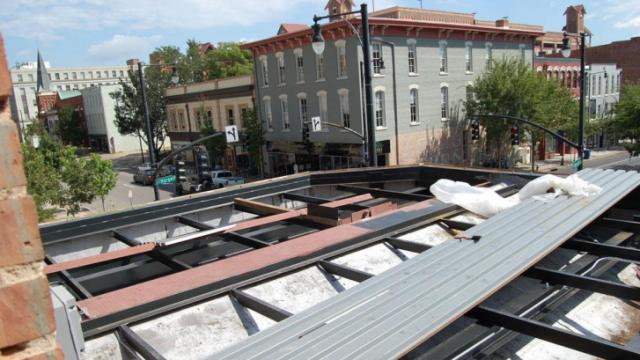 This area will be rooftop seating at Raleigh Times.