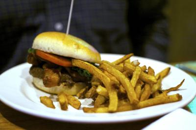 Burger and fries from Chow in Raleigh. (Photo by The Straight Beef.)