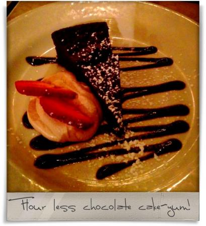 Taken at Humble Pie.  Comment: Flour less chocolate cake-yum!