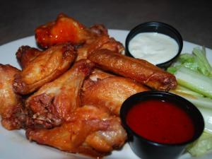 Jumbo buffalo-style wings from The Point in Raleigh