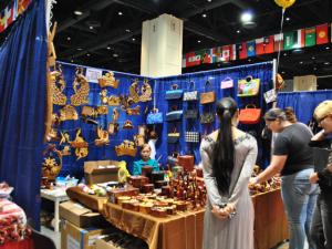 There were many booths and cultural exhibits at the 27th Annual International Festival of Raleigh.