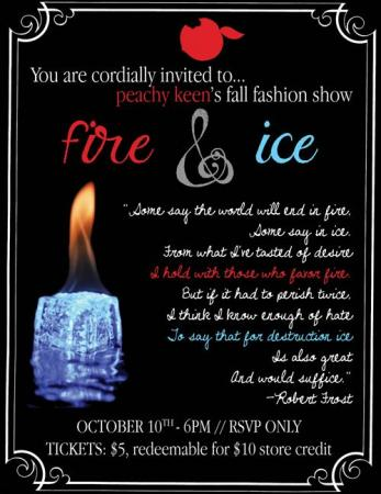 Peachy Keen Fall Fashion Show: Fire & Ice