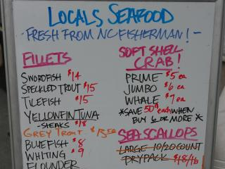Fresh seafood from NC waters is on the menu at the Hook & Vine event Oct. 14.