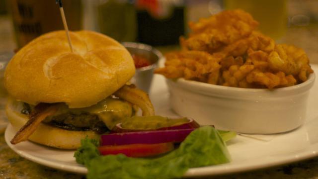 The Memphis burger at Cameron Bar and Grill.