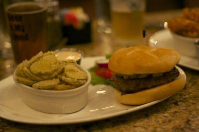 The Baltimore burger at Cameron Bar and Grill.