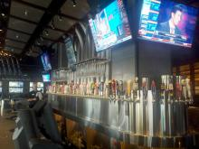 The bar at Yard House in North Hills