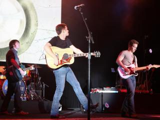 Scotty McCreery performs in Dorton Arena at the North Carolina State Fair October 15, 2012. (Photo by Jack Tarr)