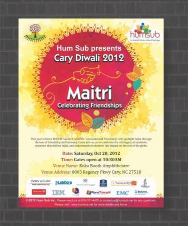Cary Diwali 2012: Saturday, Oct. 20, at 10:30 a.m.