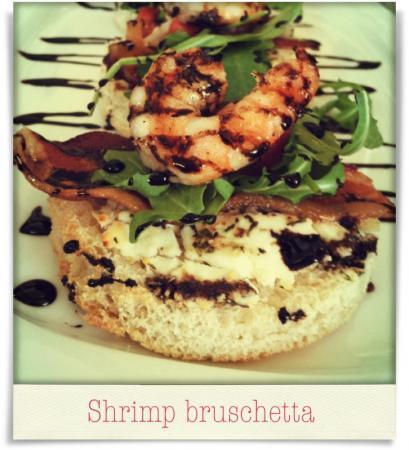 Taken at 518 West.  Comment: Shrimp bruschetta