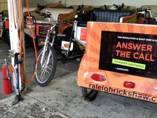 Bandwidth provides the technology to make Raleigh rickshaws into Wi-Fi hot spots.