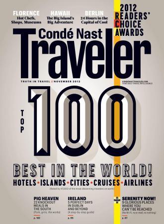 Conde Nast Traveler 25th Anniversary Readers' Choice Awards.  (PRNewsFoto/Conde Nast Traveler)