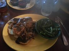 Open Face Beef Sandwich at Relish