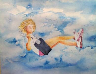 """""""Let Go of the Stuff That Weighs You Down,"""" by Rick Bennett, is one of the pieces available at the Tipping Paint Gallery's Seven Solutions to Holiday Giving."""