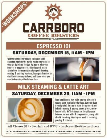Carrboro Coffee Workshops