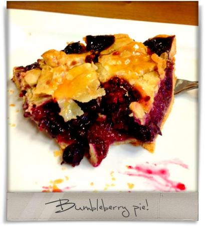 Taken at Upper Crust.  Comment: Bumbleberry pie!