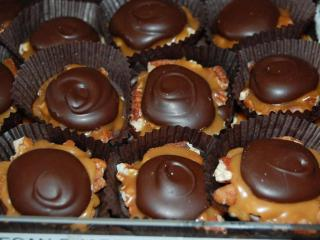 These Snappers are similar to Turtles, but better. Available at Chocolate Smiles in Cary.