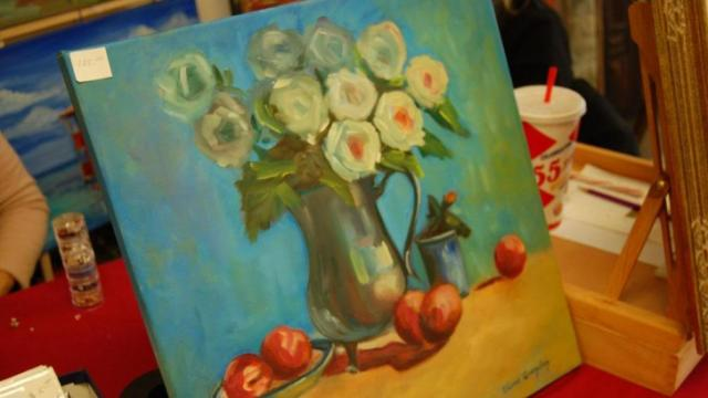 These paintings were also among the offerings at the Holly Daze Shop.