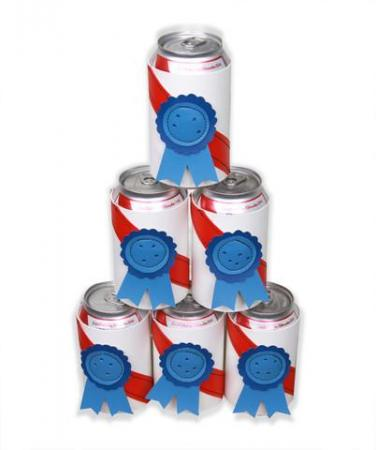 Holly Aiken offers these PBR inspired koozies for $6 each. (Image from HollyAiken.com)