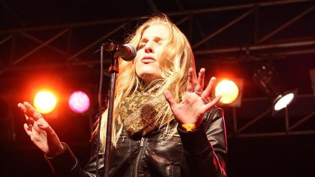 Delta Rae Rocking in the New Year on the main stage. First Night Raleigh, Fayetteville St, 12-31-12 (Photo by Chris Baird)