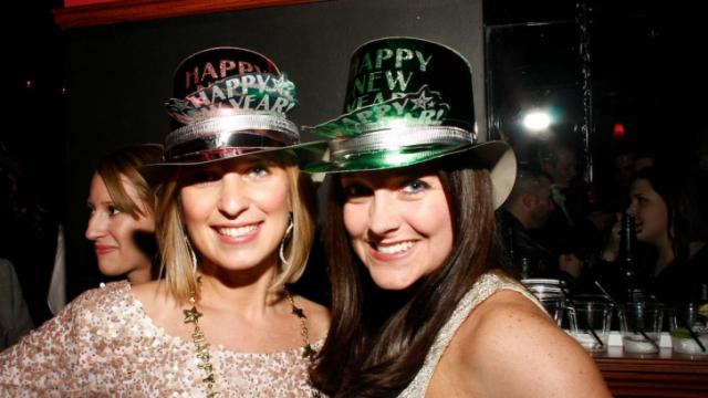 Revelers celebrate New Year's Eve at The Oxford on Dec. 31, 2012.