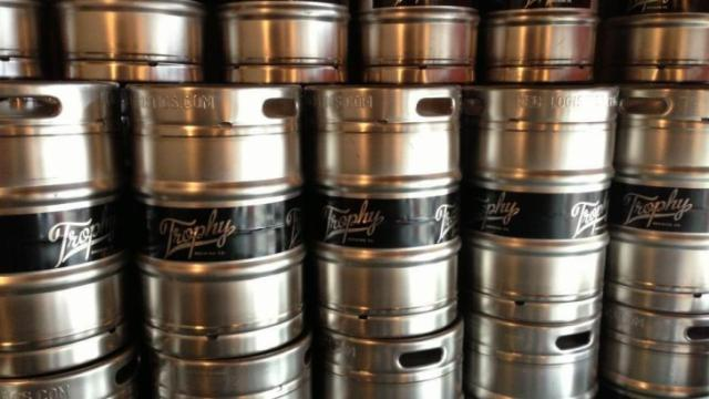 Kegs at Trophy Brewing (Image from Facebook)