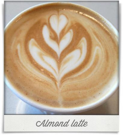 Taken at Jubala Village Coffee.  Comment: Almond latte