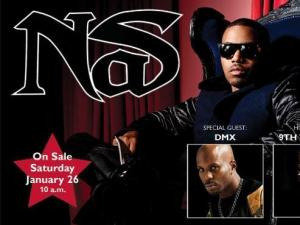 Nas with special guest DMX will perform at DPAC on March 3. Durham's 9th Wonder will host. (Image from DPAC)