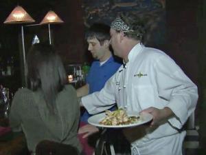 Brian Battistella prepared special Super Bowl menu at his Raleigh restaurant Sunday.