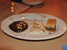Chocolate mousse, rice pudding and bakalava at Troy Mezze on Dishcrawl's first tour in Raleigh.