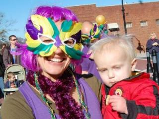 Wake Forest celebrated Mardi Gras during a family-friendly festival downtown on Feb. 9, 2013.