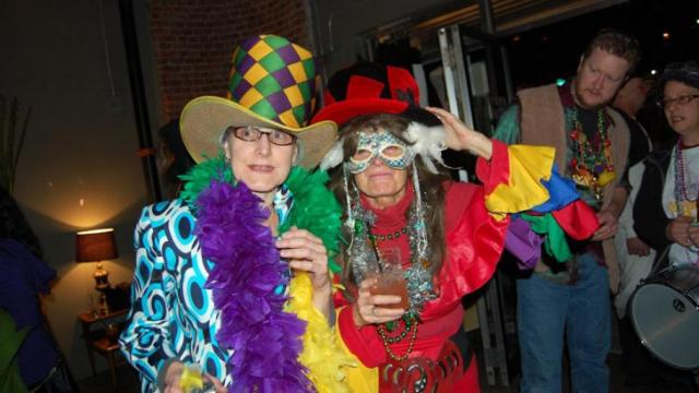 People filled Motorco in Durham to celebrate Mardi Gras in 2013.