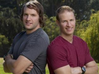 "Bates Battaglia and his brother Anthony on ""The Amazing Race."" (Image from CBS.com)"