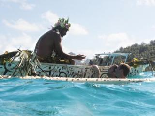The Amazing Race in Bora Bora (Image from CBS.com)