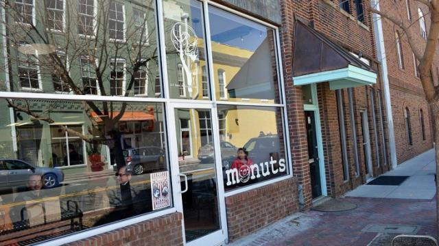 Monuts Donuts offers handmade doughnuts, bagels and breakfast sandwiches.