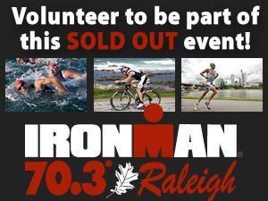 Volunteer for IronMan 70.3 Raleigh.