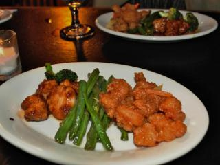 Chicken and shrimp at Five Star during Dishcrawl.