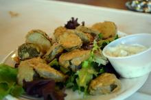 The fried pickles at Simply Crepes.