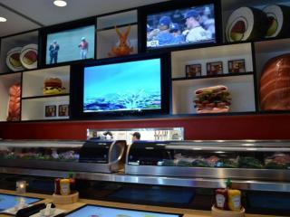 The sushi bar at Cowfish Raleigh.