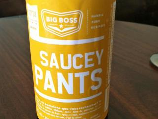 Saucey Pants beer from Big Boss