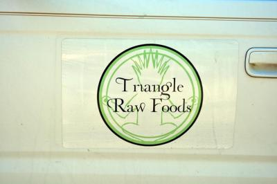 Triangle Raw Foods has a food truck and delivery service.