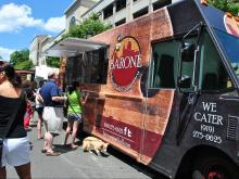 Barone Meatball Company had a huge line during the Downtown Raleigh Food Truck Rodeo.