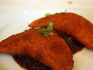 Sweet potato empanadas (Photo by Rebecca Gomez Farrell.)