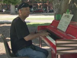 The City of Raleigh has located pianos around downtown to encourage public players.