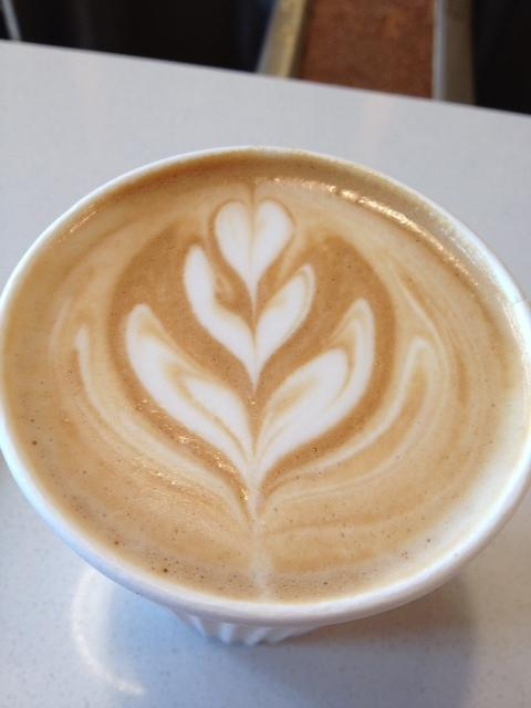 An almond latte at Jubala.