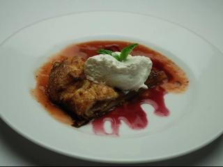 Course 6: Peach Gallette with Strawberry Peach Bourbon Sauce and Sweet Cream (Image courtesy of Fire in the Triangle) - Capital Club 16