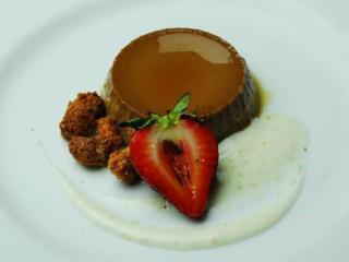 Course 6: Banana Chocolate Milk Flan, Mascarpone, Spiced Cashew, Lime n' the Coconut (Midtown)