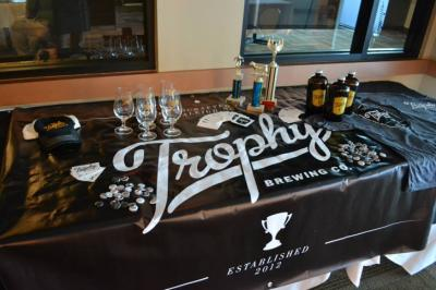 Trophy Brewing was the featured brewery of the evening. (Image from Competition Dining)