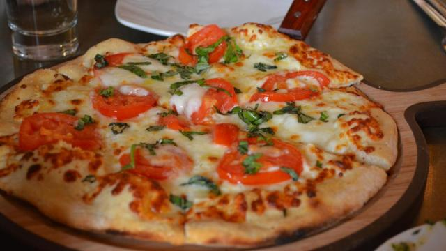 Margherita Pizza at Jimmy V's.