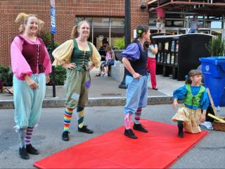 A Shakespeare troupe performs quirky, quick scenes during SPARKcon 2013.