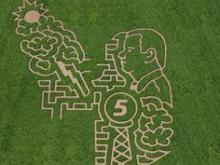 Ken's Korny Corn Maze in Garner mowed their 2013 maze in the likeness of WRAL-TV Meteorologist Mike Maze.